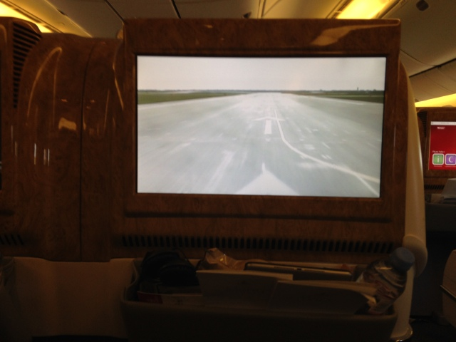 Widescreen showing cameraview at takeoff