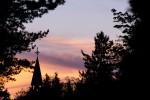 Church tower sunset