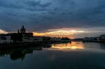 Sunset over Arno